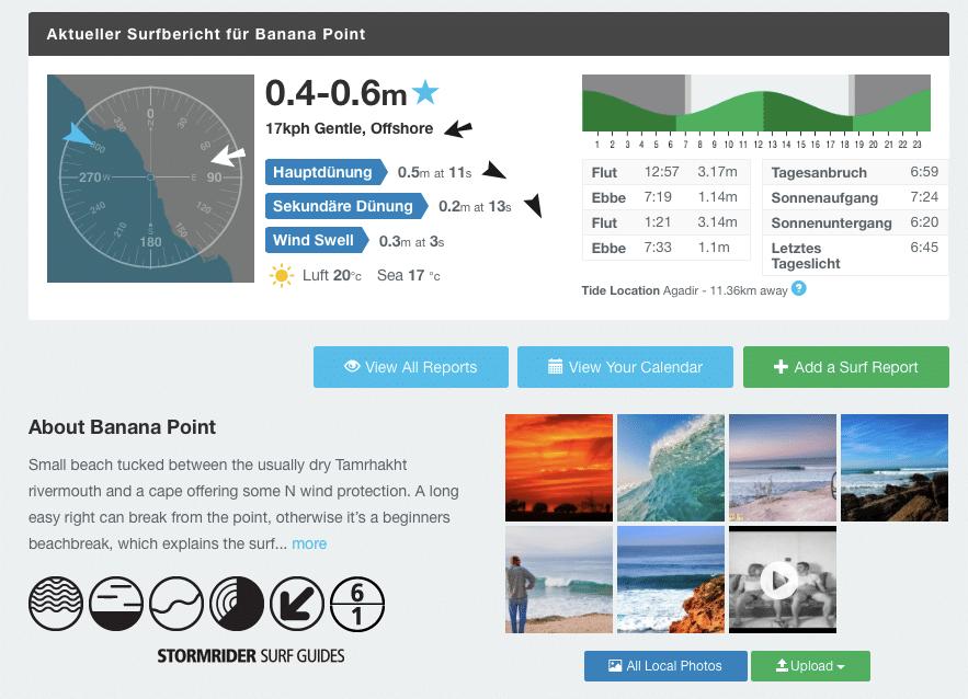 Spotauswahl Surf-forecast lesen