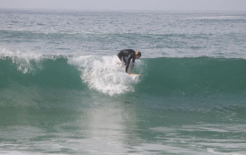 Takeoff Wellenreiten Technik