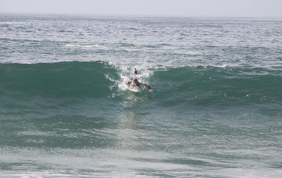 Wellenreiten Takeoff üben